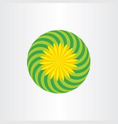 flower background design floral icon vector image