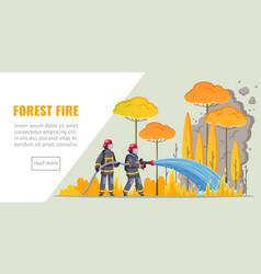 forest fire cartoon banner vector image