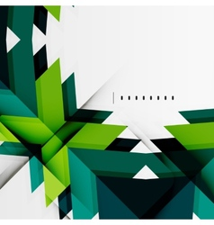 Futuristic blue and green color shapes vector image