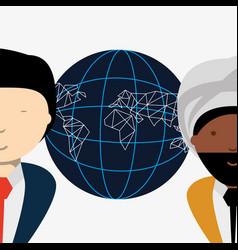 global network design vector image