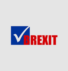 Great briitain leaves european union referendum vector