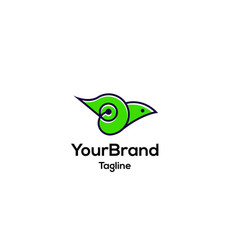 green bird logo template vector image