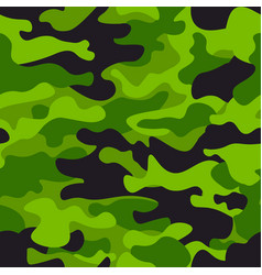 green camouflage seamless pattern background vector image