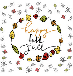 Happy fall autumn greeting card vector