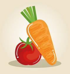 Healthy food vegan icons vector