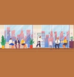 Hr employer interview employee evaluation hiring vector