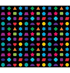 Kid toy geometrical shapes colorful seamless vector image vector image