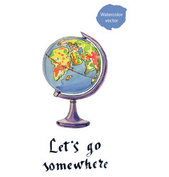 lets go somewhere vector image