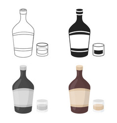 Liqueur icon in cartoon style isolated on white vector