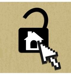 Lock house icon vector image