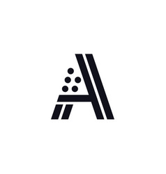 logo letter a black and white vector image