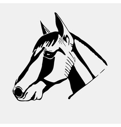 Logo symbol sign stencil horse headunique vector