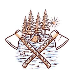 lumberjack vector image