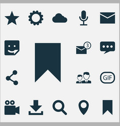 Media icons set collection publish vector