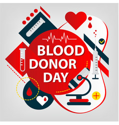 Medical concept donor day blood and organs vector