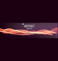 Music waves abstract sound background dot vector