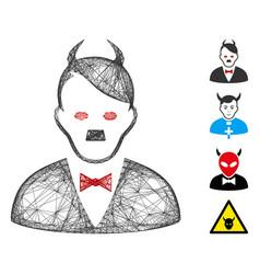 Network hitler devil mesh vector