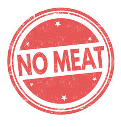 No meat sign or stamp vector