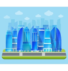 Office industrial cityscape vector image
