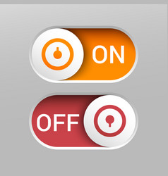 realistic on and off switch buttons vector image