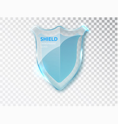 Security glass label presentation transparent vector