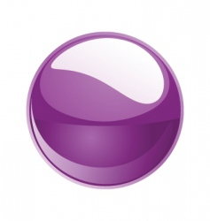 Shiny sphere 02 purple vector