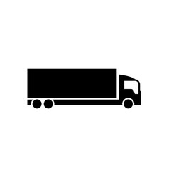 shipping truck icon design template isolated vector image