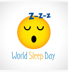 Sleep day emozzi vector