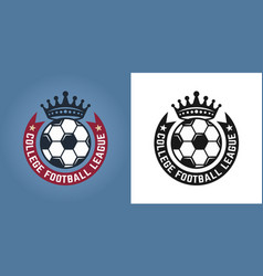 soccer set two styles round emblems or logos vector image