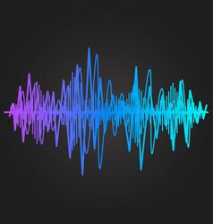 Sound wave rhythm vector