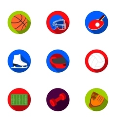 Sport and fitness set icons in flat style Big vector