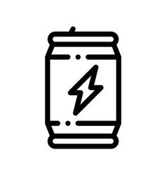 sport energy drink bottle thin line icon vector image