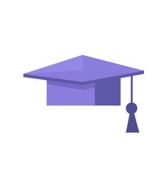 Student graduation cap closeup vector