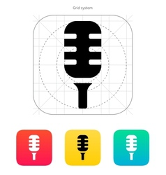 Studio microphone icon vector image
