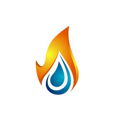 water flame logo template vector image