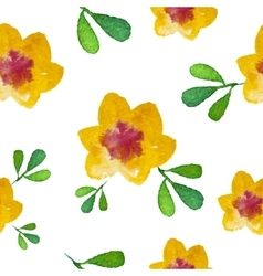 Watercolor flower Seamless Background vector