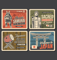 Welcome to japan japanese culture and traditions vector