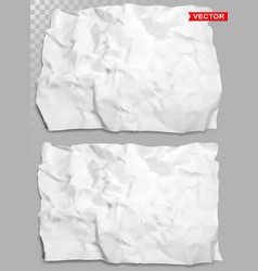 wrinkled crumpled realistic white paper vector image