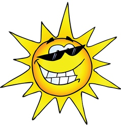 Hot Sun Cartoon Character vector image vector image