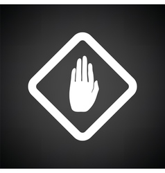 Icon of Warning hand vector image