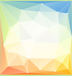 low poly bright background vector image vector image