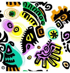 pattern hand drawn vector image vector image