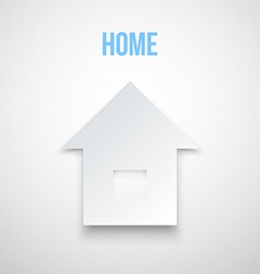 Abstract Paper Home Icon isolated vector image vector image