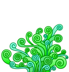 abstract plant vector image vector image