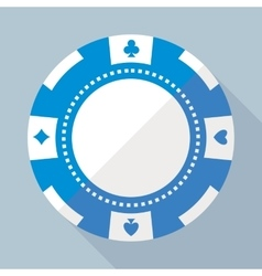 Casino gambling chip flat icon vector image