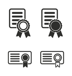 Certificate icon set vector image vector image
