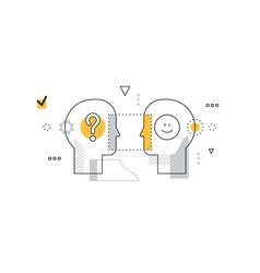 Emotional intelligence concept communication vector image vector image