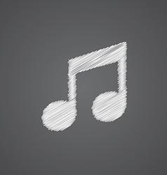 music sketch logo doodle icon vector image