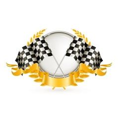 Silver Racing Emblem vector image