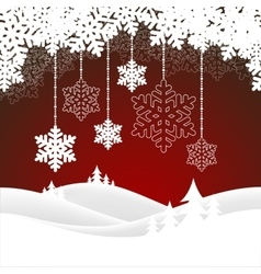christmas snowy landscape vector image vector image
